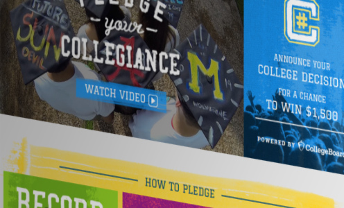 Pledge Your #Collegiance